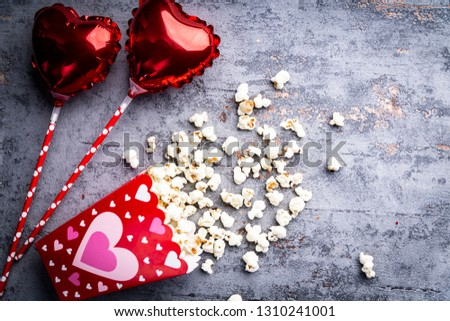 Cinema for lovers. A lot of lovers, popcorn and hearts  #1310241001