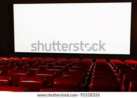 Cinema Interior Auditorium 3D render
