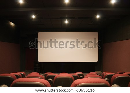 Cinema interior empty
