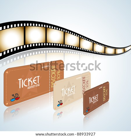 Cinema objects. Ticket, popcorn and drinks.Vector version available in my gallery.