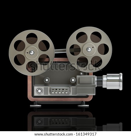 Old-fashioned cinema projector  cartoon… Stock Photo 177458168