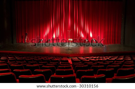 Cinema - theater red interior