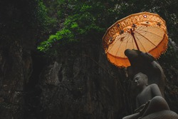 Cinematic photo of a Chattra or umbrella or parasol, a  Tibetan Buddhist symbol of wisdom and spiritual power and  symbolizes honor and respect for the Buddha
