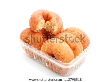 Cinnamon Donut isolated on white