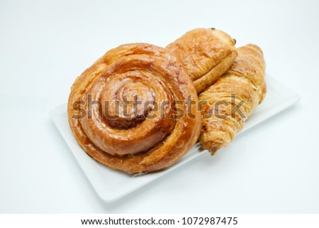 Cinnamon roll bake from the oven made with good ingredients and fresh baked
