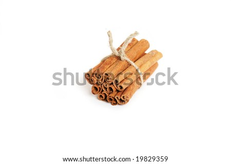 Cinnamon sticks, isolated on white