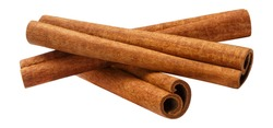 Cinnamon sticks, isolated on white background