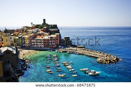 Cinque Terre, Italy. Vernazza fishermen village.