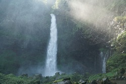 Ciparay waterfall, a beautiful waterfall in Tasikmalaya Regency, West Java.