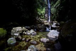 Ciparay waterfall in Pamijahan Sentul West Java