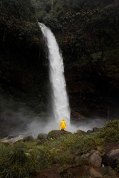 Ciparay waterfall in Tasikmalaya, West Java, Indonesia.