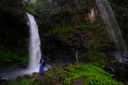 Ciparay Waterfall, Tasikmalaya District, West Java, Indonesia