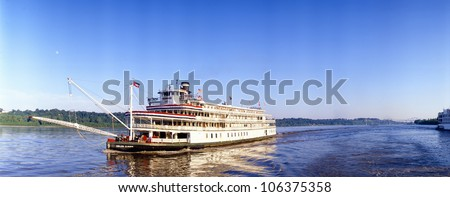 CIRCA 2000 - Delta Queen steamboat on Mississippi River, Mississippi