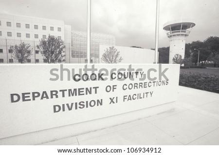 CIRCA 2002 - Entrance to Cook County Department of Corrections, Chicago, Illinois