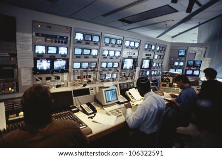 CIRCA 1999 - Interior of Television Station USA