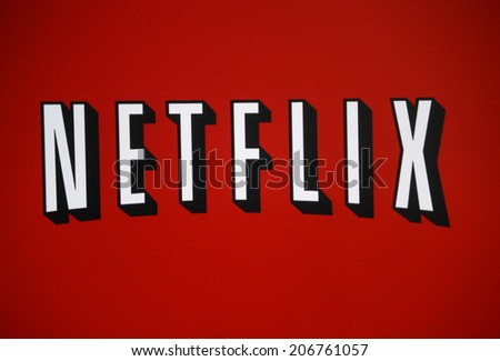CIRCA JUNE 2014 BERLIN the logo of the brand Netflix