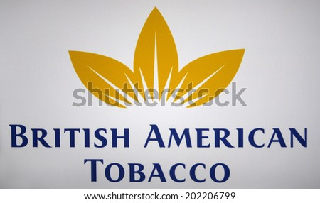 CIRCA MAY 2014 BERLIN the logo of the brand British American Tobacco
