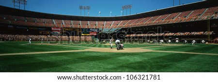 CIRCA 1999 - This is 3Com Stadium. It was formerly known as Candlestick Park. The San Francisco Giants are playing.