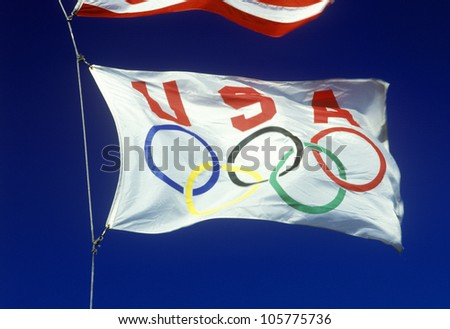 CIRCA 1988 - USA Olympic flag