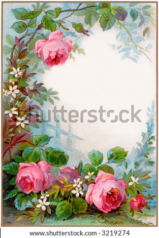 clip art rose border