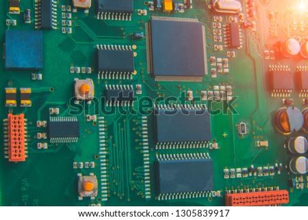 Circiut, Green Plate, Micro Scheme, Micro Chip