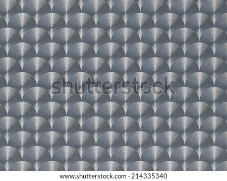 Circle brushes metal surface.  Industrial high resolution background