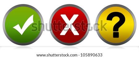 Square Check Mark, Cross Mark and… Stock Photo 105890636