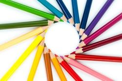 circle colors pencils multi color