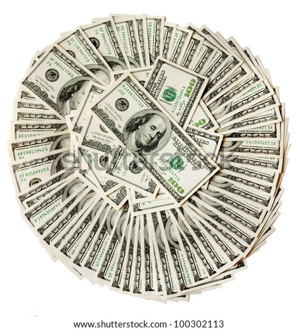 Circle from 100 dollar denominations