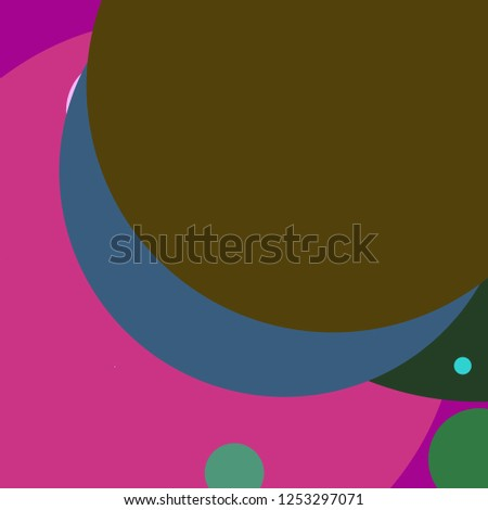 Circle geometric elegant abstract background multicolor pattern.