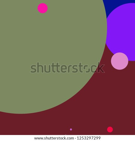 Circle geometric new abstract background multicolored pattern.