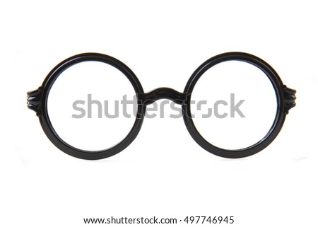 circle glasses isolated on the white background #497746945