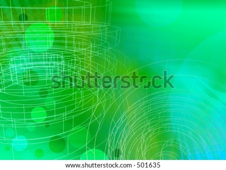 Circle green with wireframe A3. Use as is or overlay with text or other elements.