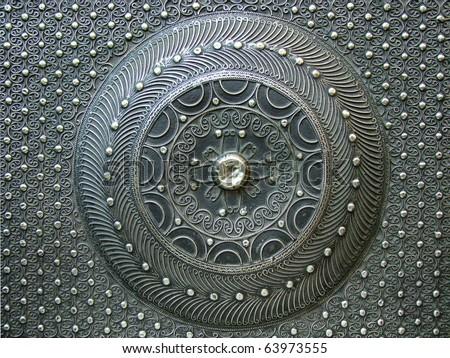 circle iron texture