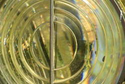 Circle layers glass reflection sculpture