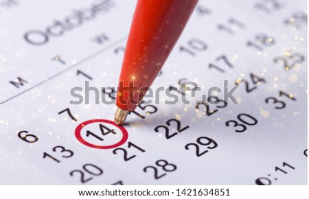 Circle marked on a calendar concept for an important day or reminder #1421634851