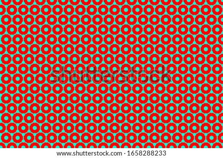 Circle pattern background in Lush Lava FF4500 and Aqua Menthe 7FFFD4 color trend. Stock photo ©