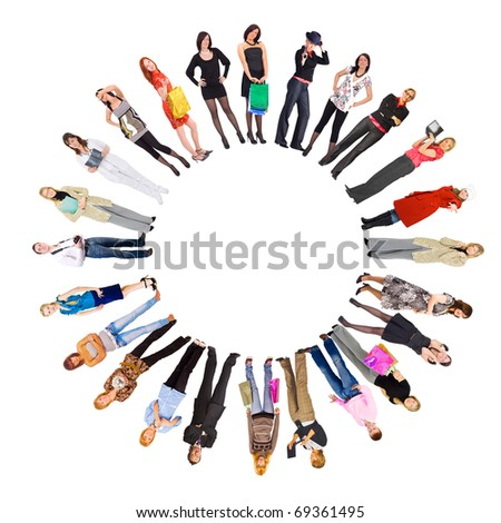 Circle People Team - stock photo