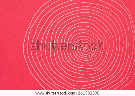 circle prints on colorful cotton textile