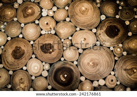 Circle Sectional Wood Background