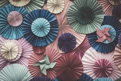Circle shape Folding paper Retro filter effect