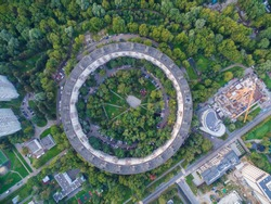Circle shaped house in Moscow