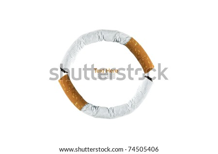 circle smoking symbol on white  background