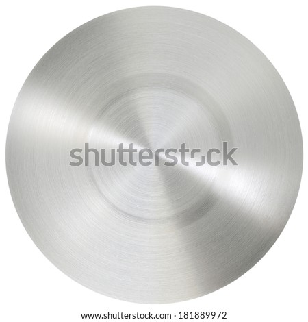 Circle stainless steel surface whit clipping path
