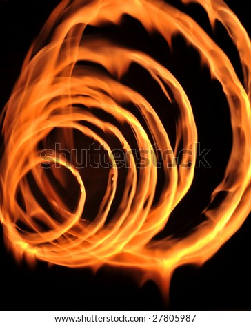 Circle to form the shape of fire