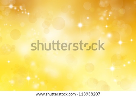 Circles and stars yellow abstract background