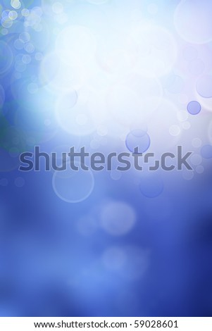Circles on blue abstract background