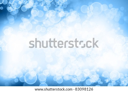 Circles on bright abstract background - stock photo