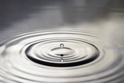 circles on water from the the drop