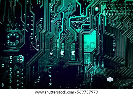 Circuit board. Electronic computer hardware technology. Motherboard digital chip. Tech science background. Integrated communication processor. Information engineering component. #569757979